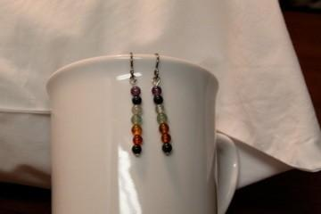 Gemstone Chakra Earrings- Hypoallergenic