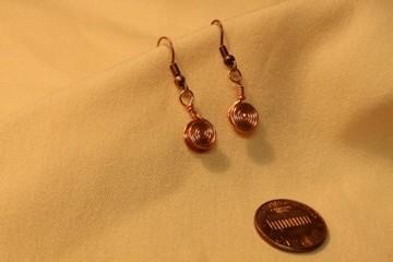 Copper Double Spiral Earrings