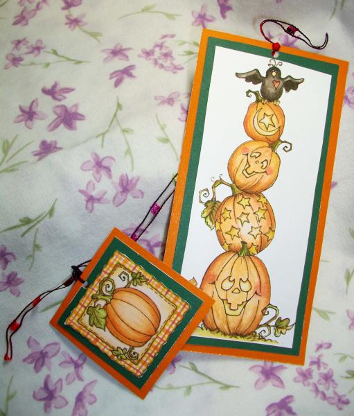 Stack O Pumpkins bookmarks