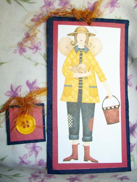 Gardening Angel bookmark
