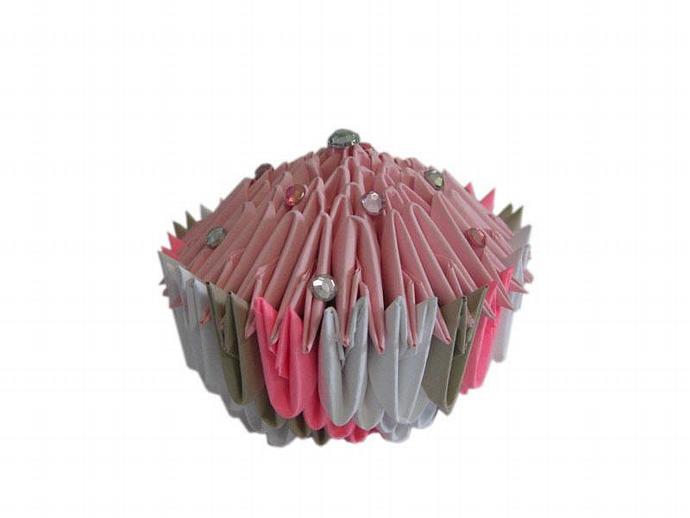 3d origami cupcake espressions