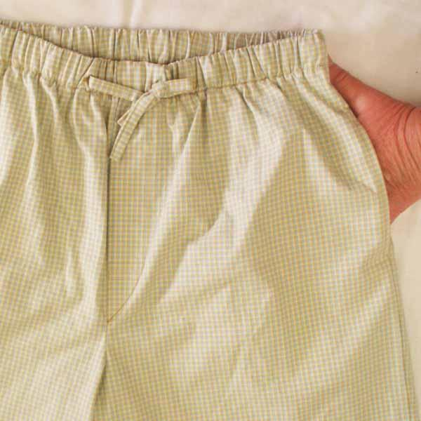 Tan / Blue Plaid Sleep Shorts