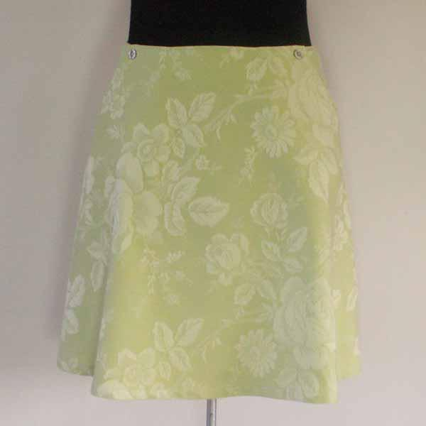 Green Tea / Floral Aline Skirt