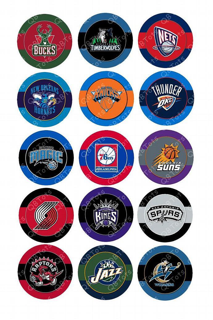 NBA Digital Image Collage 1 inch Circles