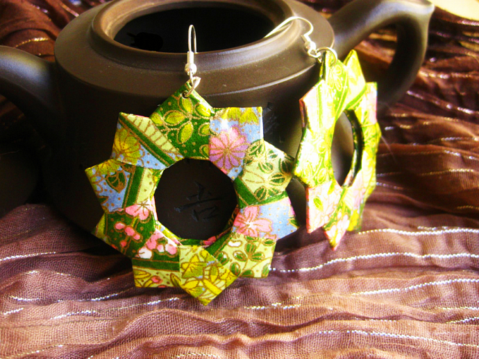 Origami Earrings - Out to Pasture