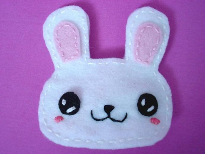 Cute Bunny Felt Hairclip- O.N.L.