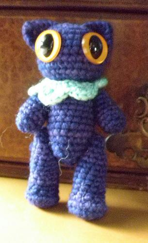 Deep blue-violet kitty