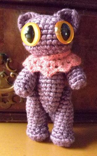 Purple kitty SILK amigurumi