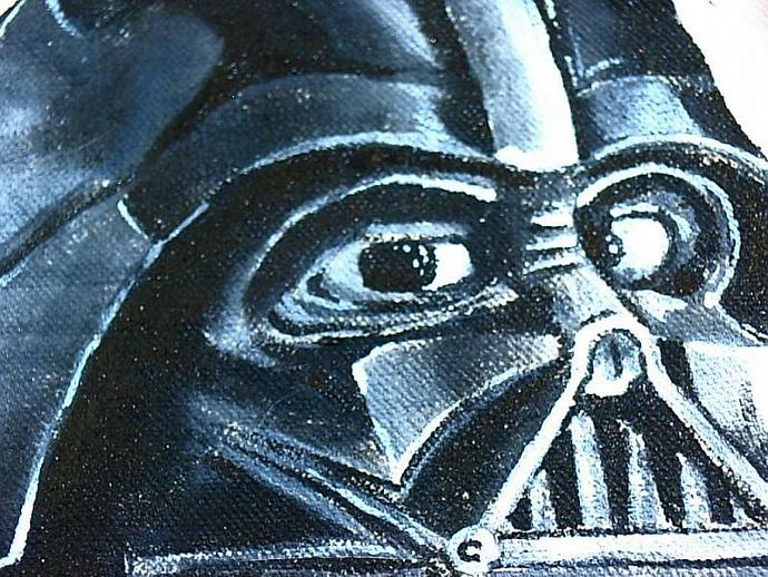 hand painted Star Wars DARTH VADER  tote, bag, or shopping bag- get your name on