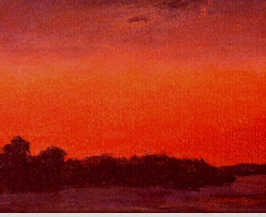 Sunset On Fort Pond (Original Landscape/Seascape)
