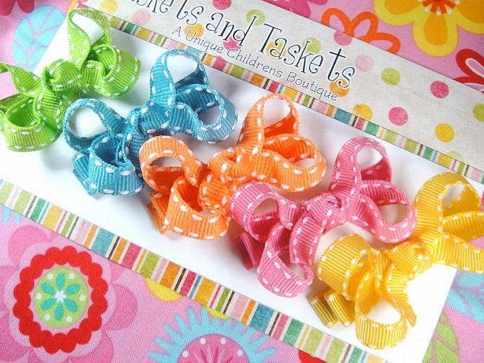 Starter Gift Set of 5 Bright Colors Pink Turquoise Green Yellow Orange Itty
