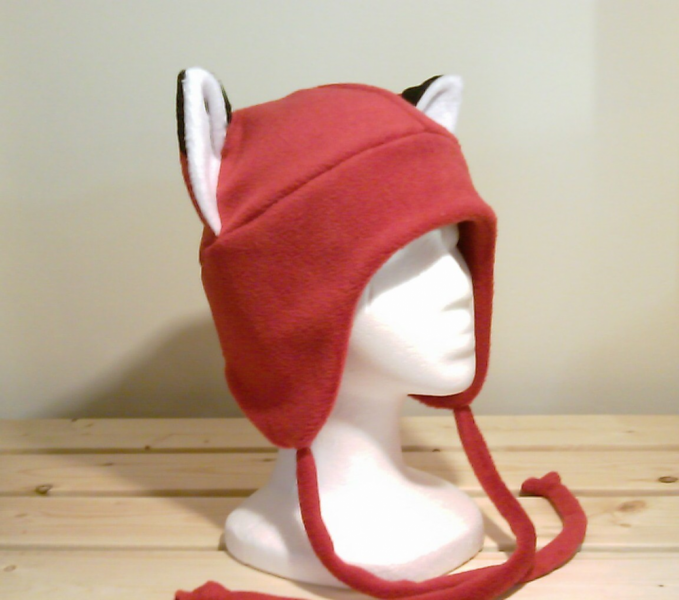 RED FOX fleece aviator hat cosplay NARUTO anime
