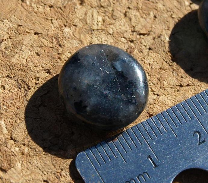 Moon Stone Disk Beads 11-032