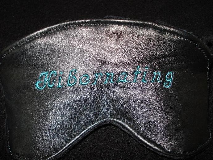 Leather Hibernating Sleeping Mask - Black