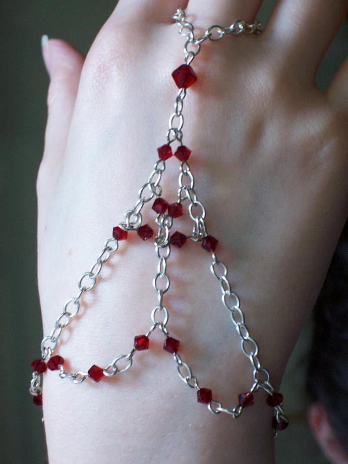 Siam Swarovski Crystal Slave Bracelet
