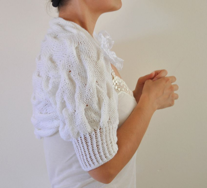 White Beautiful Shrug / Bolero - Bridal Shrug