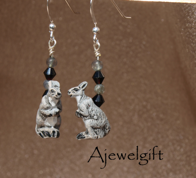 Kangaroo Earrings 10003