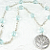 SOLD Aquamarine Glass Bead Pendant Necklace