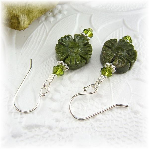 Unakite Flower Earrings