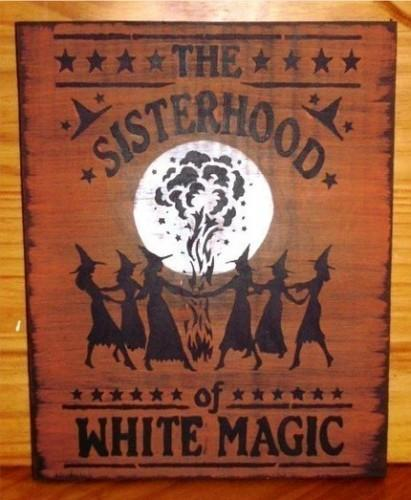Sisterhood of White magic Primitive Witch witches witchcraft halloween Sign Moon