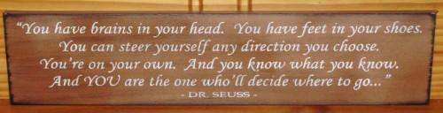 Dr. Seuss Quote Sign Plaque Painting Wood Nursery New Baby Gift Inspirational