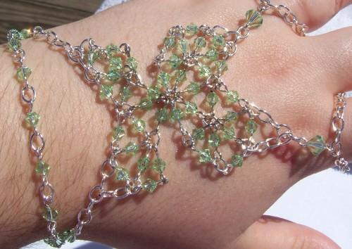 Chrysolite Swarovski Crystal Butterfly Slave Braclet