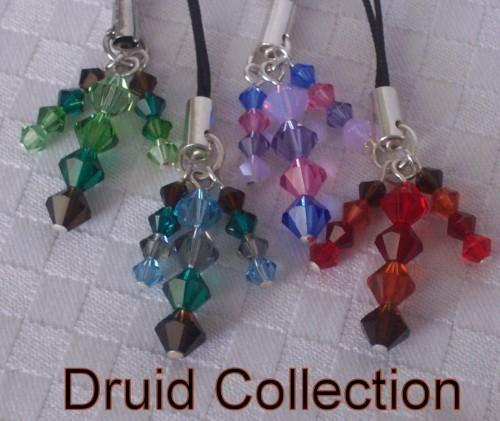 Swarovski Crystal World of Warcraft Inspired Phone Tag Set - Druid