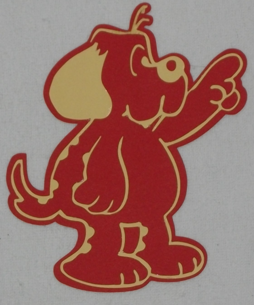Cartoon Dog pointing die cut/paper piecing