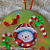 Snowman Quilled CD ornament