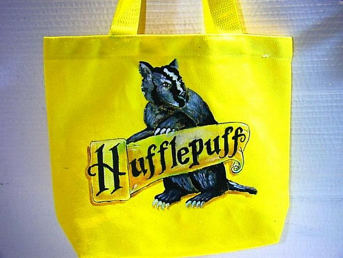 Hufflepuff House bag great for e-reader, nook, or kindle