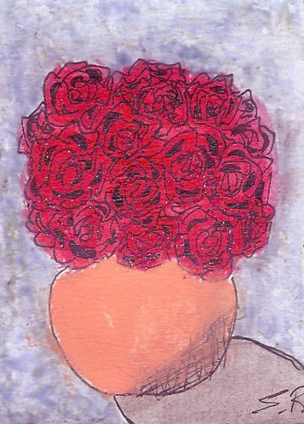 Mother's Rose Bouquet ACEO Original