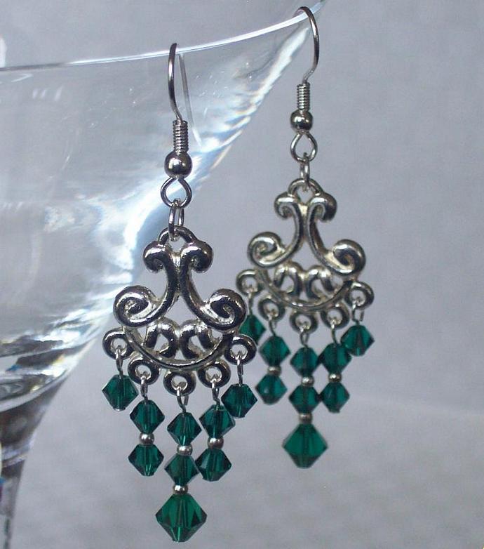 Swarovski Emerald Chandeliers
