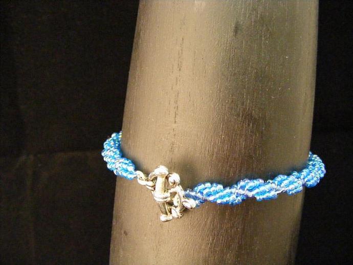 Moody Blues Bracelet - Spiral Weave