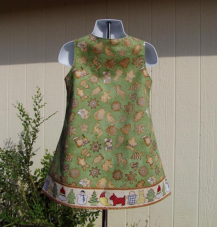 Christmas Cookies Dress,  Size 2 Toddler