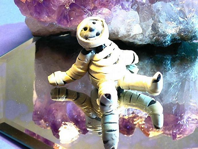 Madrid the Mellow Mummy polymer clay statue