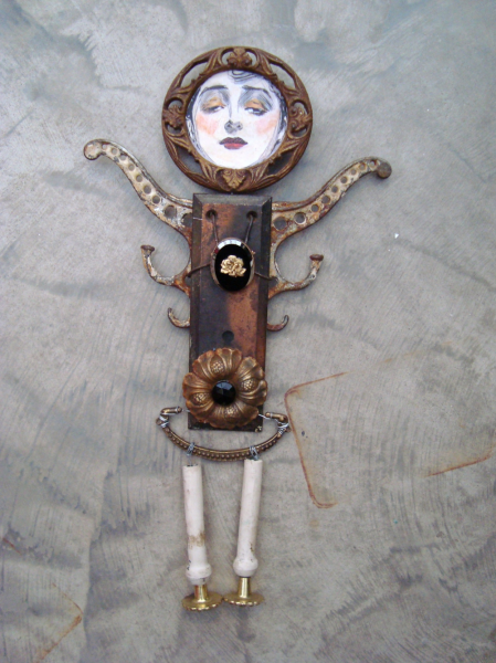 PEPENELOPE PRETENDS Altered Art/Assemblage