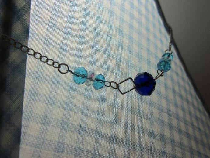 Blue and Aqua Necklace - 20""