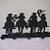 Silhouette Cowboys Coat Rack
