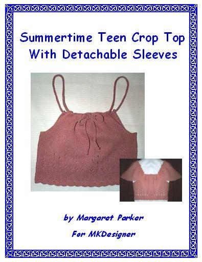 Summer Crop Top Machine Knit ePattern PDF or WORD