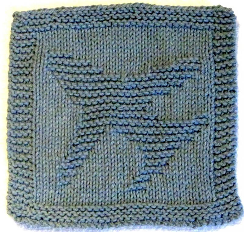 Knitting Cloth Pattern AIRPLANE - PDF ezcareknits