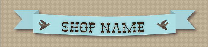 Blue ribbon shop banner
