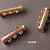 1 pcs Bright Copper Magnetic 3-Strand Slide Clasp