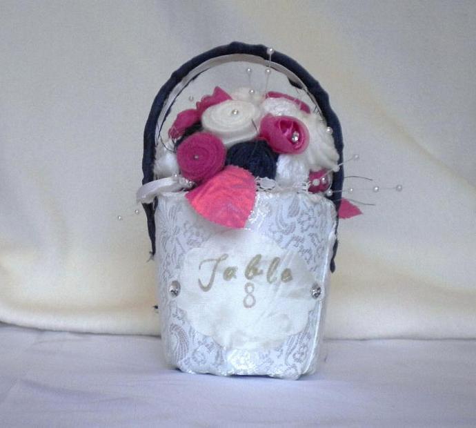 Rolled felt flower bouquet basket