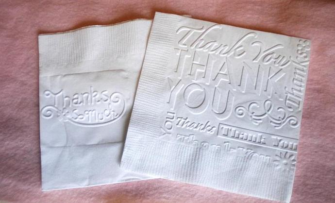 Thank you party napkins - 20 pieces