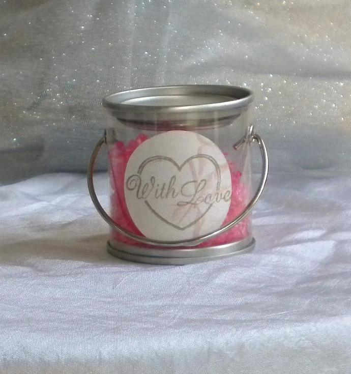 Candy diamonds personalized bucket favor - set of 5