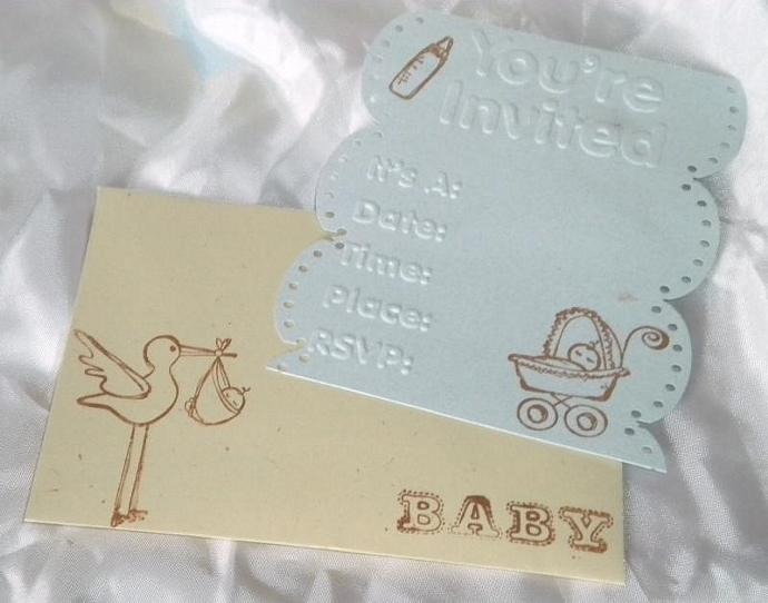 Sweet baby invitation n envelope - 10 sets