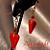 Red Heart Dangle Earrings 10001