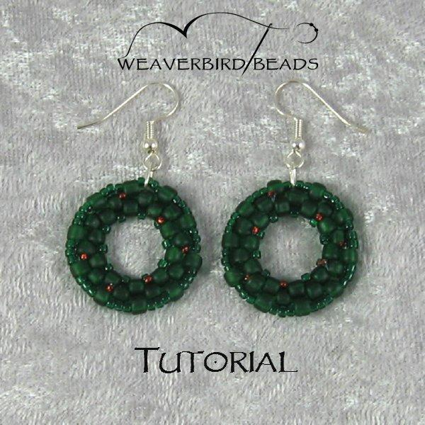Tutorial Beaded Wreath Earrings personal use