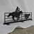 Cowboy Roping Metal Silhouette Mail Box Topper