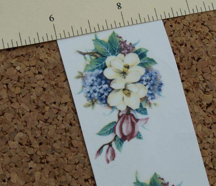 Magnolia Bouquet Ceramic Waterslide Decal D10-65